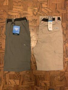New Columbia Men's Palm Peak Pants  Gray or Khaki Various Sizes