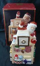 Lenox Christmas Holiday Village Musical Candy Box Cookie Jar Plays Jingle Bells