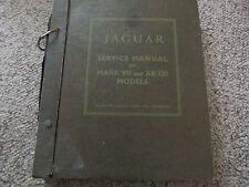 JAGUAR MARK Vll XK 120 SUPPER SPORTS MODEL SERVICE  MANUAL