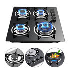 """23"""" 4 Burners Gas Cooktop Stove Top Tempered Glass Built-In LPG/NG Gas Cooktops photo"""