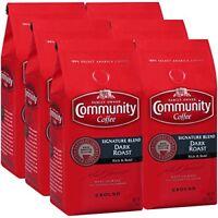Community Coffee Premium Ground Signature Blend Dark Roast Coffee, 12 Oz (6 Pk)