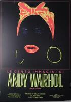 ORIGINAL VINTAGE POP ART POSTER EXHIBITION ANDY WARHOL LE CENTO IMMAGINI 1989