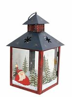 Metal Frame Holiday Hanging Lantern Christmas Tealight Candle Holder Decoration