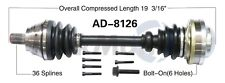 For Audi A3 VW CC Eos Jetta Front Driver Left CV Axle Shaft SurTrack AD-8126