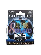 Gosen x 8 Tresse 14' À 30lbs 5 variation Cerise Rose & Blanc 150m/151m Japon Lo4