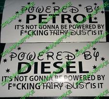 Alimentato da benzina o gasolio non Fairy Dust Divertenti Auto Adesivo Jdm Dub tritate