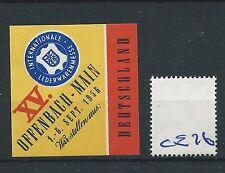 wbc. - CINDERELLA/POSTER - CE76 - EUROPE- INT LEDWARENMESSE - OFFENBACH - 1956