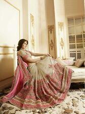 Último Bollywood Indio étnico Boda Bordado Partywear lehenga Sarees