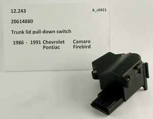 1986-1991 Camaro Firebird NOS trunk lid pulldown switch 20614880