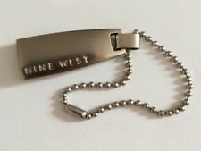 NINE WEST SILVER TONE KEY CHAIN PURSE CHARM HANG TAG FOB brushed Knickel