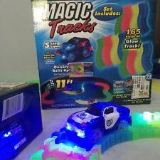 MAGIC TRACKS Glow in the Dark RED LIGHT UP RACE CAR Bend Flex KIDS FUN TOYS Y