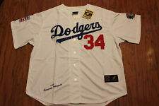 Los Angeles Dodgers #34 Valenzuela White Home Jersey w/Tags Size M(Adult)