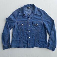 Vintage LEE Denim Jacket 70s Snap Buttons black label