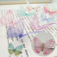 10x 5cm Chiffon Butterfly Ear Stud Hair Clothes Accessories Cotton Women Gifts