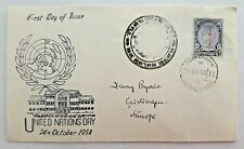 THAILAND FDC cover 1954 United Nations Day