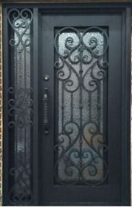 Single Wrought Iron Door With Sidelite