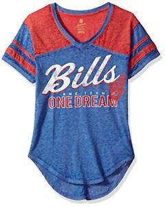 Outerstuff NFL Junior's NFL Girls Vintage Short Sleeve Football Tee, Royal, XL
