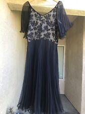 VTG Trell Cocktail, Prom Black Pleated Flutter Sleeve Cocktail Dress Vintage 16