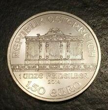 1,50 EURO 2014 AUSTRIA Filarmonica di Vienna 1 oz/oncia Silver/Argento Puro