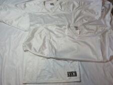 Vintage 80s 90s Venus Vkm Men's Small White Football Mesh Jersey - lot of 2!