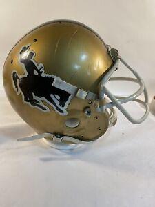 rare vintage game used Wyoming Cowboys football helmet
