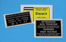 FERRARI PAINT CODE DECAL L GLASURIT ROSSO CORSA 300/12COOLANT/VOLTAGE SET