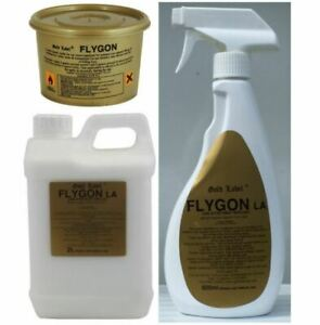 Gold Label FLYGON - Fly Repellent Spray/ Gel/ Roll-on - From 2 For £12 (Horse)