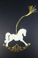 1994 Lenox Rocking Horse Porcelain Gold Trim Christmas Tree Ornament