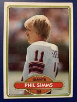1980 Topps Football Phil Simms ROOKIE RC #225