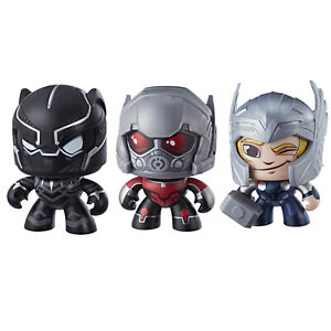 Marvel Mighty Muggs Black Panther, Thor & Ant-Man Figures Bundle - FAST FREE P&P