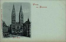 BREMEN Litho-AK um 1900 Strassen Partie am Dom Kirche Verlag Glückstadt Münden