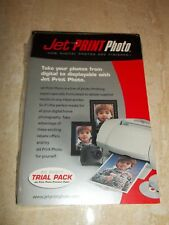 """NEW JET PRINT PHOTO PAPER Pack 12756-0 INK 4"""" X 6"""" 20 Sheets Brilliant Finish"""