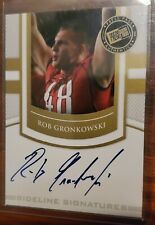 2010 PRESS PASS ROOKIE AUTOGRAGH ROB GRONKOWSKI CARD GOLD! 🔥HOT! FUTURE HOF?