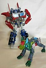 Transformers Optimus Prime Weaponizer Figure 10 Inches Hasbro 2012 With K9 Bot
