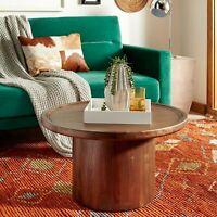 """Safavieh Devin Round Pedestal Coffee Table - Dark Oak - 28"""" Dark oak 28"""" x 28"""" x"""