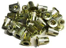 Rivet nuts 8-32 steel 25pc BUY 3 or MORE, 10% Rebate (rivnut riv nut nutsert)