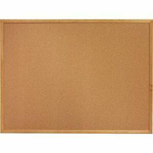 """Lorell Oak Wood Frame Cork Board 18"""" x 24"""""""