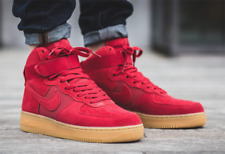 NIKE AIR FORCE 1 HIGH UK 8 EUR 42.5 US 9 RED SUEDE GUM SOLE MAX HI 90 97 FLYKNIT