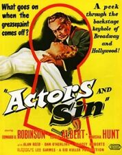 ACTORS AND SIN, 1952, Edward G. Robinson, Eddie Albert drama: DVD-R Region 2  ^