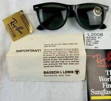 New listing New Vintage Bausch & Lomb Ray Ban Wayfarer Ebony Black Sunglasses L2009 B&L 50mm