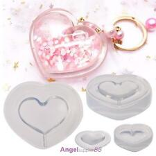 DIY Love Silicone Pendant Necklace Mold Making Jewelry Resin Casting Craft Tool