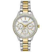 Citizen Women's Quartz Crystal Accents Multi Dial Band 36mm Watch ED8169-55A