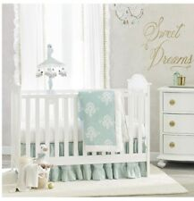 Lambs & Ivy Emi 4 Piece Crib Baby Bedding Set Medallions Mint Green Nursery NEW