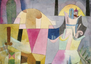 Landscape Paul Klee Abstract HUGE A1 size 59.4x84cm Decor Canvas Print Unframed