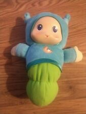 Musical Lullaby Gloworm Glow Worm Plush Light Up Blue Green Hasbro Playskool