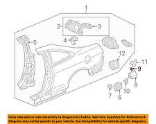HONDA OEM Quarter Panel-Fuel Door Cushion 70495692000