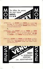 The Jockey The Venus Montparnasse Paris France Old Nightclub Flyer