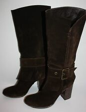 Womens NOW Italy Brown Suede Boots Size 39.5 / US 9.5