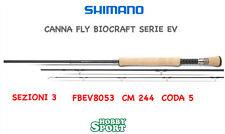 "CANNA SHIMANO BIOCRAFT EV FLY ROD 8"" 3 PEZZI  CODA 5 PESCA A MOSCA"