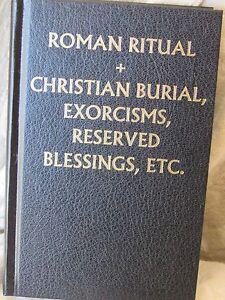 Roman Ritual Volume II Christian Burial, Exorcisms Hardback Black Cover